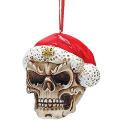 "Exclusive ""Skelly Claus II"" Skeleton Ornament: Set of Three"