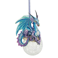 Gothic Dragon Holiday Gemstone Ornament: Set of Three