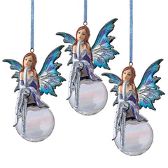 The Snow Fairy Goddess Holiday Ornament: Set of Three