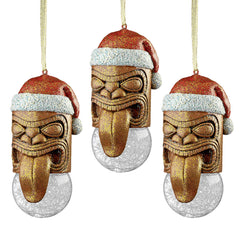 Lono Tiki South Seas Holiday Ornament: Set of Three