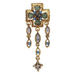 Goldtoned Jeweler Lyndseas Moonstone Earrings