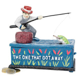 "5"" Fisherman Die-cast Iron Mechanical Coin Bank/gift Tem"