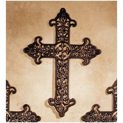 "18"" Classic French Royalty Cross Foundry Iron Casting Faux Bronze Finish"