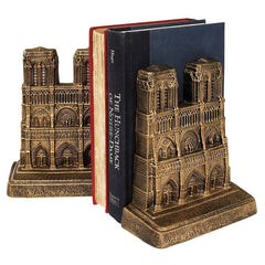 Cast Iron Decorative French Notre Dame Statue Sculpture Bookends/Gift Item