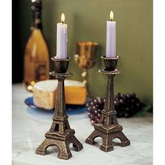 French Eiffel Tower Sculpture Statue Candle Stand Holder