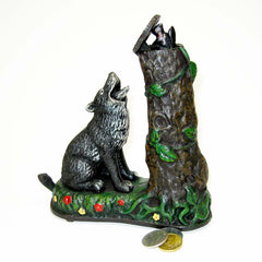 1882 Collectible Wolf Wildlife Squirrel Collectors Die Cast Iron Mechanical C...