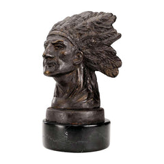 "6"" 20th-century Antique Replica American Indian Chief Pontiac Authentic Found..."