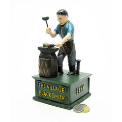 "10"" Classic Antique Replica Blacksmith Collectors Die Cast Iron Mechanical Co..."
