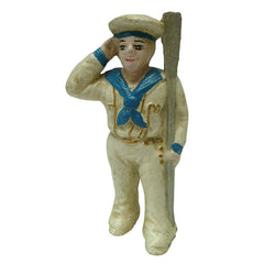 Saluting Sailor Still Action Die-Cast Iron Coin Bank