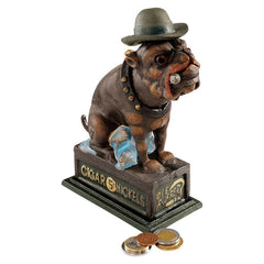 "8.5"" Antique Replica English Bulldog Authentic Foundry Cast Iron Mechanical Bank"
