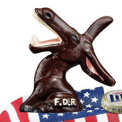 FDR Democratic Party Donkey Cast Iron Bottle Opener