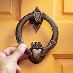 19th Century Antique Replica Claddagh Authentic Iron Doorknocker