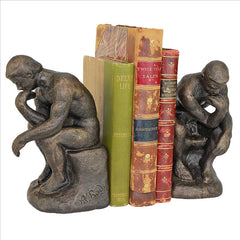 Rodins Thinker Bookend Pair