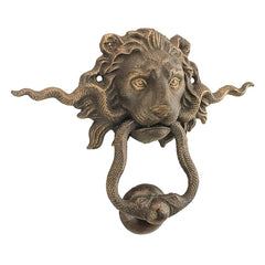 Lion And The Snake Cast Iron Foundry French Royalty Decorative Decor Knocker