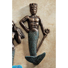 Classic Decorative Merman Foundry Iron Towel Robe bathroom Wall Hook