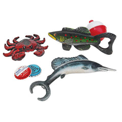 Sea Animals Crab, Marlin and Trout Fish Cast Iron Bottle Beer Openers