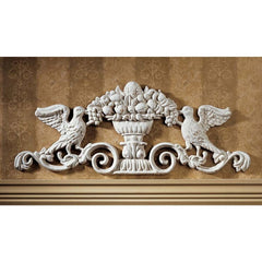 "9.5"" Victorian Art Classic Cast Iron Birds Grapes Architectural Wall Door Ped..."