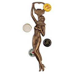 "9"" Portuguese Lady Classic Decorative Solid Iron Beverage Beer Bottle Opener"