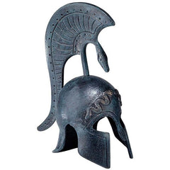 "6"" Medium Greek Medieval Hellenstic Spartan Sculptural Helmet Desktop Table Decor"