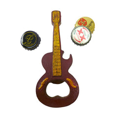 Rock and Roll Guitar Cast Iron Bottle Opener