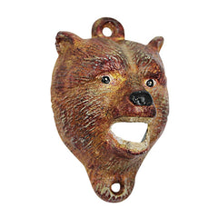 Brown Bear of the Forest Cast Iron Bottle Opener: Set of Two