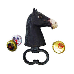 Horse Head Cast Iron Bottle Opener: Set of Two