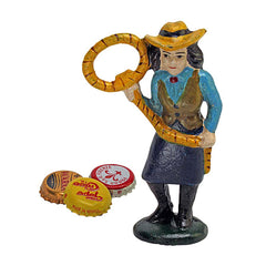 Lasso Lil the Cowgirl Cast Iron Bottle Opener: Set of Two