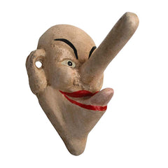 "Hand-Painted ""Liar, Liar Big Nose"" Iron Hook Collectible: Set of Two"