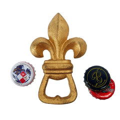 Fleur de Lis Cast Iron Bottle Opener: Set of Two