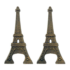 Eiffel Tower Cast Iron Bottle Opener: Set of Two