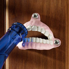 Collectible Falsies Teeth Iron Bottle Beverage Beer Opener - Set of 2
