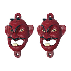 Red Devil Cast Iron Bottle Opener: Set of Two