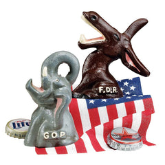 Hand-Painted GOP and FDR Bottle Openers Collectible