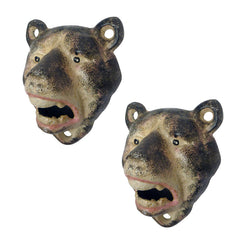 Lone Wolf Cast Iron Bottle Opener: Set of Two