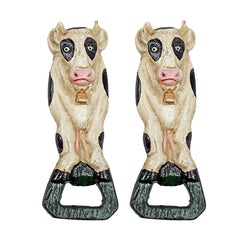 Moo Likes the Brew: Cow Cast Iron Bottle Opener: Set of Two