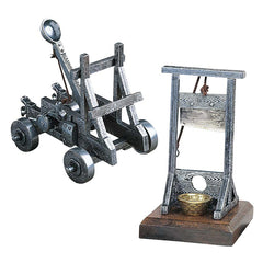 Classic Desktop Accessory Medieval War Justice Machines Cast Iron - Set of 2