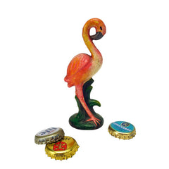 Pink Flamingo Cast Iron Bottle Opener