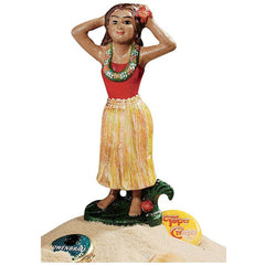 Antique Replica Hawaii Tropical Girl Dancer Sculpture Beer Beverage Bottle Op...