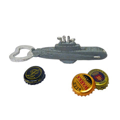 Nautilus Submarine Cast Iron Bottle Opener: Set of Two
