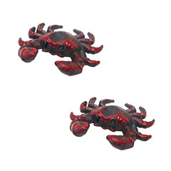 Deep Sea Red Crab Cast Iron Bottle Opener: Set of Two