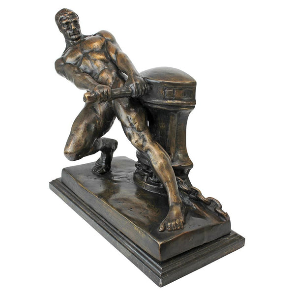 "13"" Nude Male Power of Man Quality Lost Wax Bronze Statue Sculpture Statue: 1..."