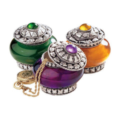 Classic Hand-embossed Vessel Treasure Jewelry Box/Gift Item - Set of 3