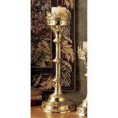 Antique Replica Gothic Authentic Solid Brass Cathedral Royal Candle Stick Holder