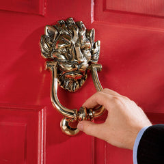 "8.5"" 18th Century Imperial Lion British Door Knocker"