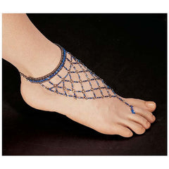 Egyptian Blue Nile Isis Slave Anklet Bracelet/Anklet Bracelet - Set of 2