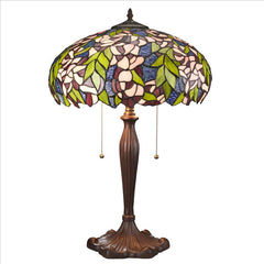 Art Nouveau Wisteria Stained Glass Lamp