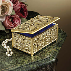French Style Solid Brass Treasure Jewelry Box [Kitchen]