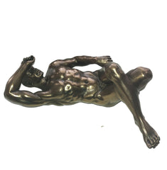 Nude Male - Artistic Bronze FInish Body Sculpture