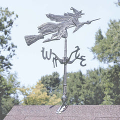 "36"" Flying Witch Metal Wind vane Roof Sculpture Statue"