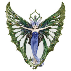 Art Nouveau Winged Peacock Princess Wall Sculpture Decor